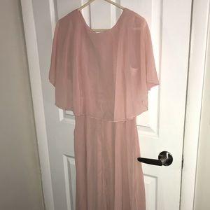 New! chic muave colored cape dress!